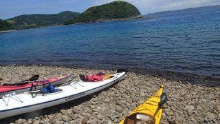 長崎県平戸【シーカヤック】で島を巡り、無人島で焚火ランチしました!
