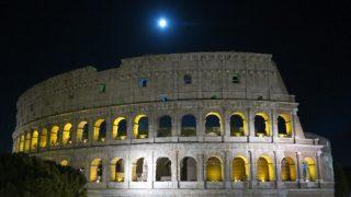 【イタリア・ローマ旅行記】ローマの休日や大理石ライトアップスポットの満月散策