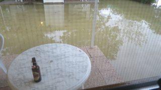 【イタリア旅行記・ピサ】大洪水で宿の周囲が水没し、島になってしまいました!><
